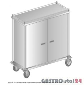Wózek do transportu tac termoizolacyjnych (drzwi chowane do środka) do transportu zewnętrznego DM 3460 1552x630x1673 Z - 30 tac