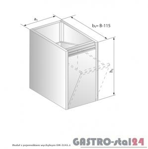 Moduł z pojemnikiem wychylnym DM 3141.1  szerokość: 585 mm  (400x585x650)