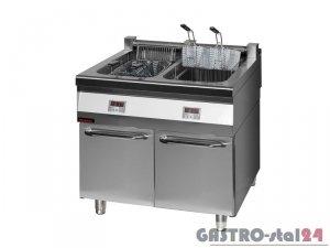Frytownica elektryczna z szafką 900.FE-2x18f, 900x900x900
