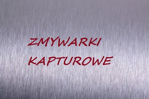 Zmywarki kapturowe