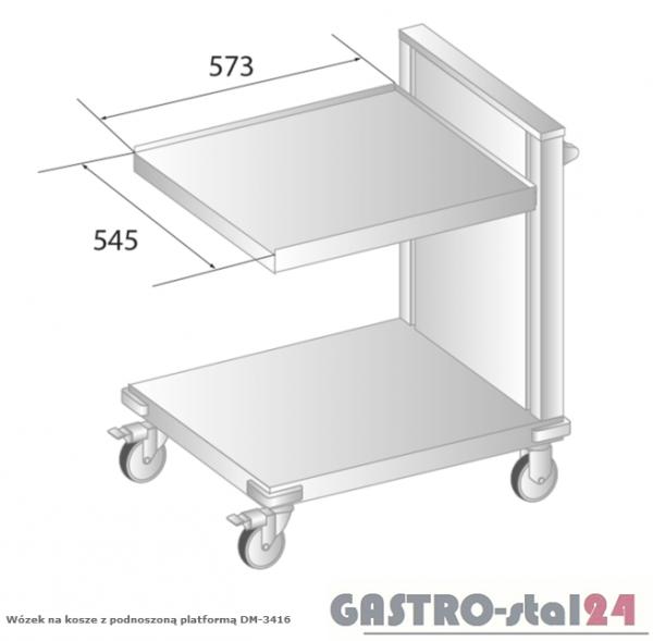 Wózek na kosze z podnoszoną platformą DM 3416 szerokość: 795 mm  (675x795x885)