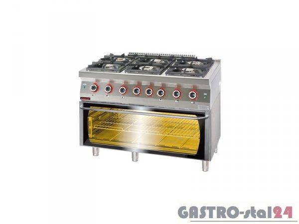 Kuchnia gazowa z piekarnikiem elektrycznym 700.KG-6/PE-3 1200x700x900