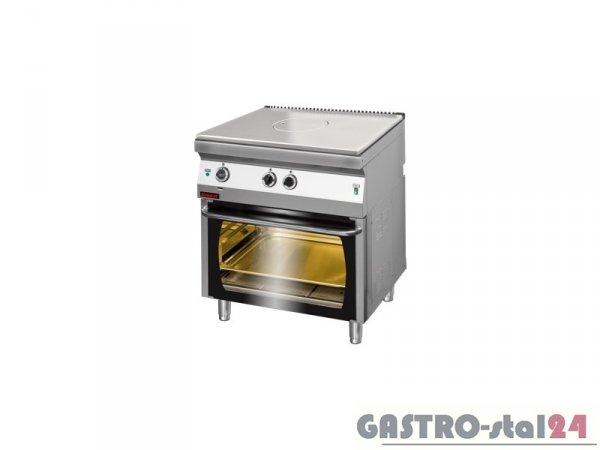 Kuchnia gazowa z płytą grzewczą z piekarnikiem el. 700.KG/I-800/PE-2, 800x700x900