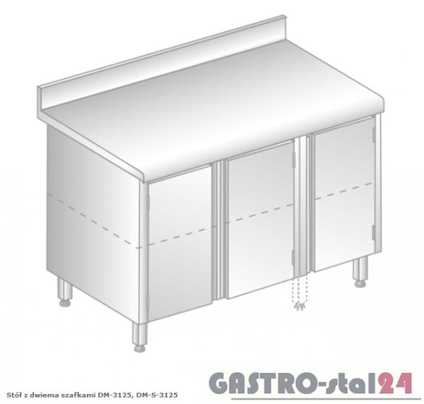 Stół z dwiema szafkami DM 3125 szerokość: 600 mm (1200x600x850)