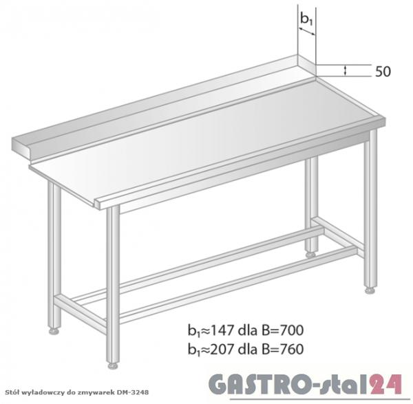 Stół wyładowczy do zmywarek DM 3248 szerokość: 760 mm (800x760x850)