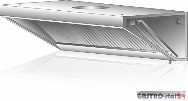 Okap wyciągowy przyścienny DM-S 3602 1000x800x400