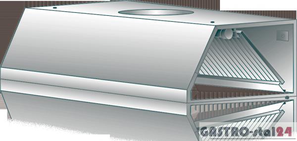 Okap wyciągowy przyścienny DM-S 3601 1000x800x400