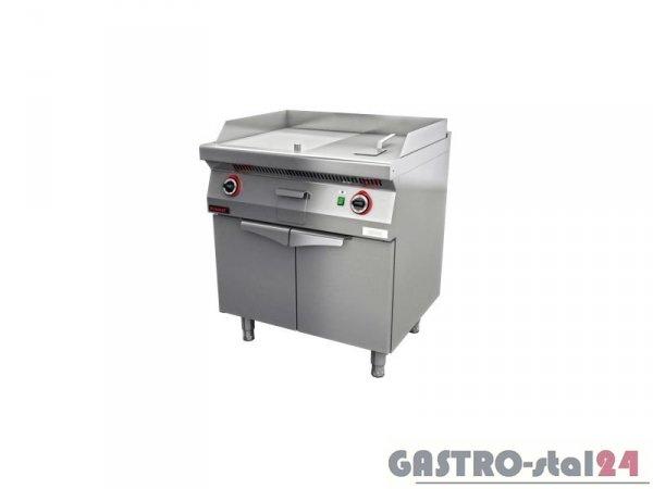 Płyta beztłuszczowego smażenia gazowa 1/2gł.+1/2ryf. 700.PBG-800GR,800x700x900