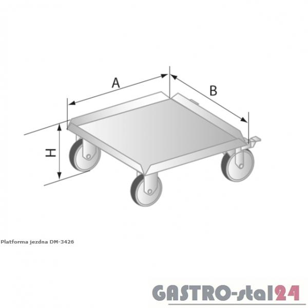 Platforma jezdna DM 3426 szerokość: 510 mm  (510x510x177)