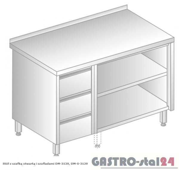 Stół z szafką otwartą i szufladami DM 3129 szerokość: 700 mm (800x700x850)