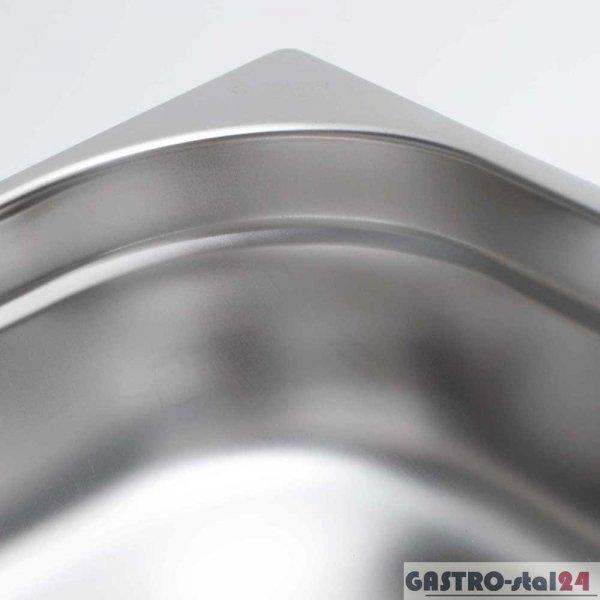 Pojemnik ze stali nierdzewnej GN 2/3 wym. 325x354 (H=20 mm)