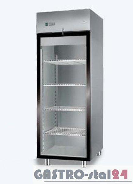 Szafa chłodnicza nierdzewna z drzwiami przeszklonymi DM 92116 640x720x2000
