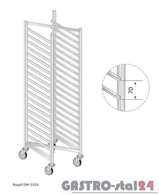 Regał DM 3325 szerokość: 550 mm, wysokość: 1800 mm  (400x550x1800)