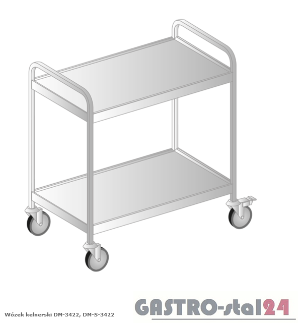 Wózek kelnerski DM 3422 szerokość: 545 mm (810x545x900)