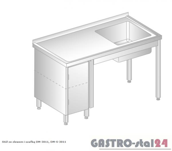Stół ze zlewem i szafką DM 3011 szerokość: 600 mm (1000x600x850)