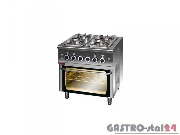Kuchnia gazowa z piekarnikiem elektrycznym 000.KG-4s/PE-2, 800x700x900