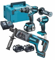 Zestaw combo Makita 3 narzędzia DHP481 DTD153 DHR241 3x4.0Ah 18V
