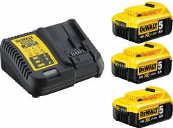 Zestaw zasilający DeWalt dcb115p3 ładowarka wielonapięciowa + 3 akumulatory 5.0 Ah
