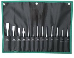 Zestaw przecinaków, punktaków i wybijaków SATA 09164 13-częściowy