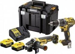 Zestaw COMBO DeWALT DCK2080P2T 18 V (DCD796, DCG405, 2xDCB184, DCB115, TSTAK VI)