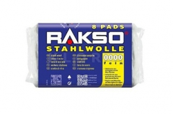 Wełna stalowa Stahlwolle RAKSO 8 Pads NR 2
