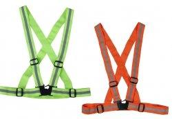 Szelki ostrzegawcze odblaskowe elastyczne Vizwell VWOT158