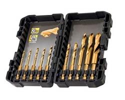 Tytanowe wiertła do metalu i drewna DEWALT DT50050 zestaw 10 sztuk