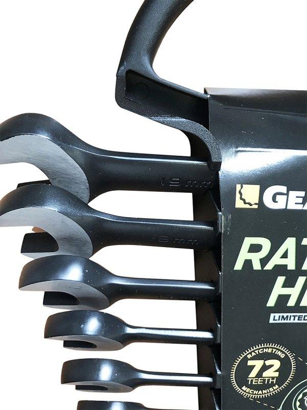 Zestaw kluczy płasko-oczkowych GearWrench Ratchet Head 12szt. 9412BE