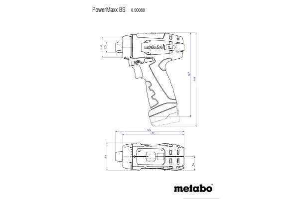 Wkrętarka Metabo PowerMaxx BS Basic 2x2.0Ah 600984000