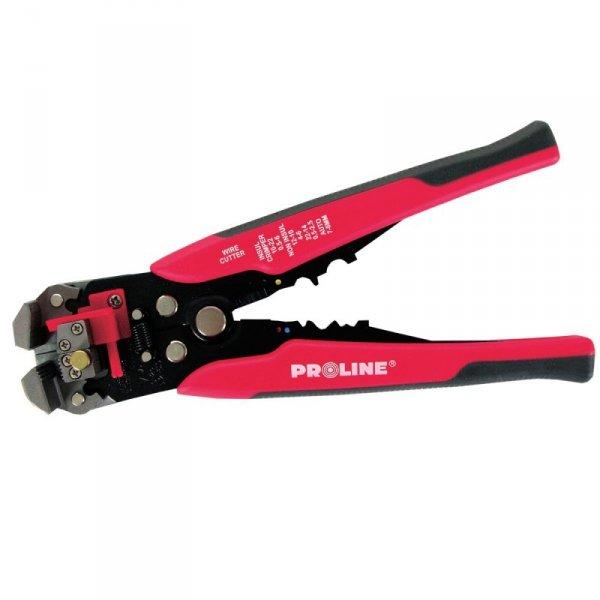 Szczypce do ściągania izolacji i zaciskania końcówek konektorowych Proline 28412 0,2-6mm