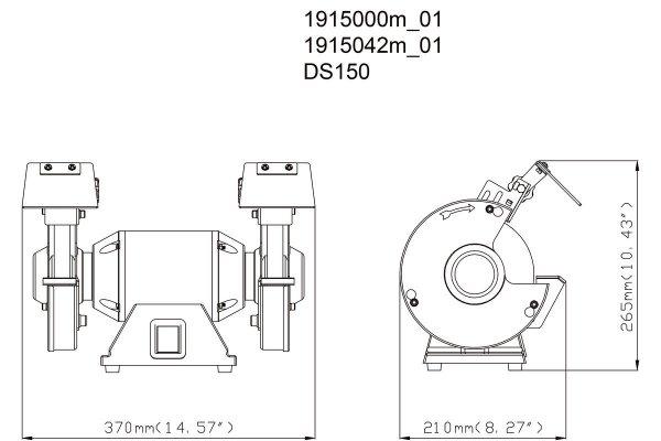 Szlifierka stołowa Metabo DS150 350W