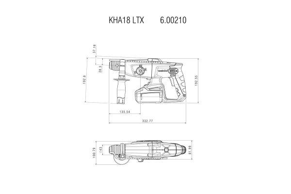 Młotowiertarka akumulatorowa Metabo KHA 18 LTX 18V MetaBox 600210840