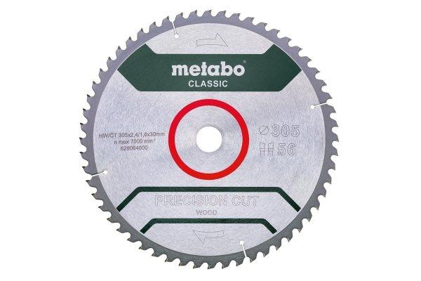 Piła tarczowa Metabo precision cut wood – classic 305x30 Z56 628064000