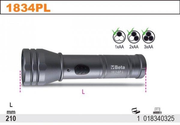 Latarka LED Beta 1834PL 500 Lumenów