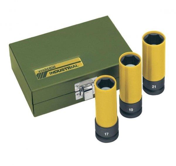 Zestaw nasadek udarowych 1/2 cala 17, 19, 21 mm PROXXON [3 części] 23938
