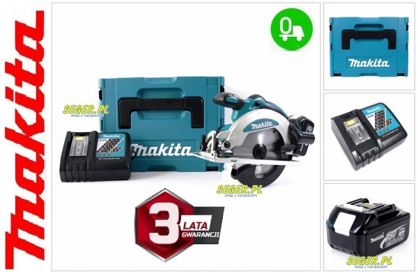 Akumulatorowa ręczna pilarka tarczowa Makita DSS610RMJ 18V 2x 4.0Ah MAKPAC