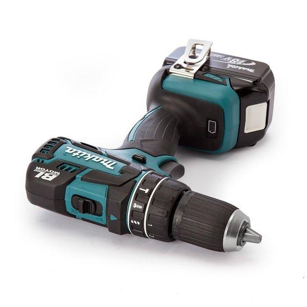Akumulatorowa wiertarko wkrętarka udarowa Makita DHP480RME 2x4.0Ah 18V