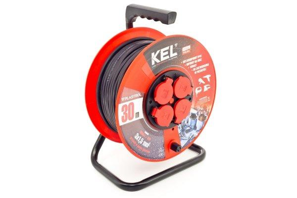 Przedłużacz bębnowy warsztatowy KEL PB-PRO/D/30M/3X2.5/H05RR-F/CZERWONY 30m W-98399