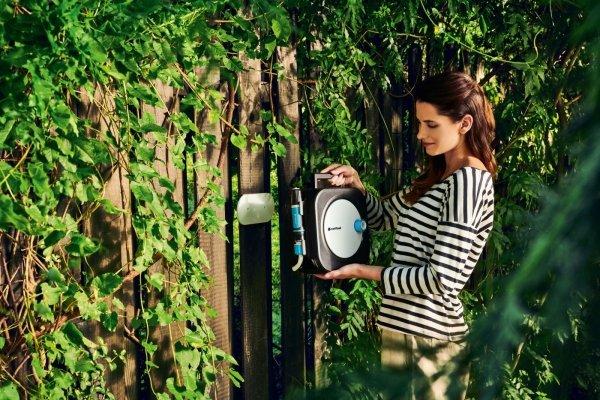 Automatyczny zwijacz węża ogrodowego Cellfast 55-400 ERGO XS + wąż 10m + zraszacz
