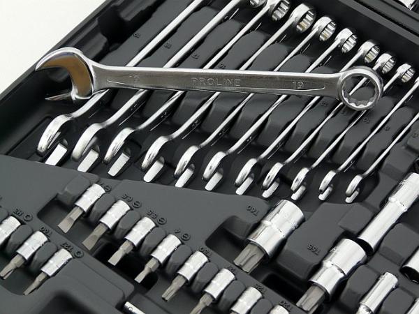 Proline zestaw kluczy nasadek bitów 217 szt. kat. 58217