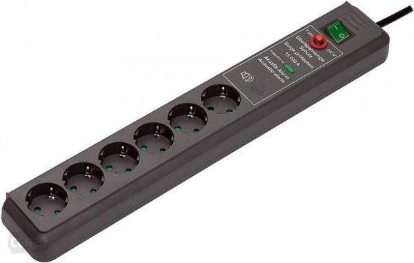 Przedłużacz listwowy z zab. przeciwprzepięciowym Brennenstuhl H05VV-F 3G1,5 (1159541376) 3m