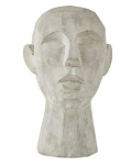 Villa Collection HOME Figura - Rzeźba Dekoracyjna 30 cm Głowa Szara