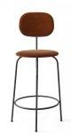Menu AFTEROOM Krzesło Barowe 92 cm Hoker Czarny Tapicerowany - Tkanina City Velvet CA7832/062