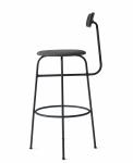 Menu AFTEROOM Stołek Krzesło Barowe 102 cm Hoker Tapicerowany Czarny - Black Melange
