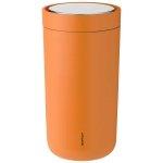 Stelton TO GO CLICK Stalowy Kubek Termiczny 200 ml Pomarańczowy Soft Orange