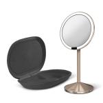 Simple Human SENSOR MINI Powiększające Lustro Sensorowe - Kosmetyczne z Podświetleniem - Różowe Złoto