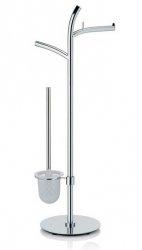 Kela SALTUS Zestaw Toaletowy - Uchwyt na Papier + Szczotka WC Chromowany