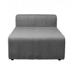 Broste Copenhagen LAKE Kanapa - Sofa Modułowa - Moduł Pojedynczy Długi - Tkanina Sztruks Ciemnoszary