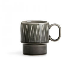 Sagaform COFFEE RETRO Filiżanka do Kawy 250 ml Szara