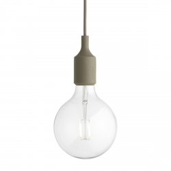 Muuto E27 Lampa Żarówka LED Oliwkowa